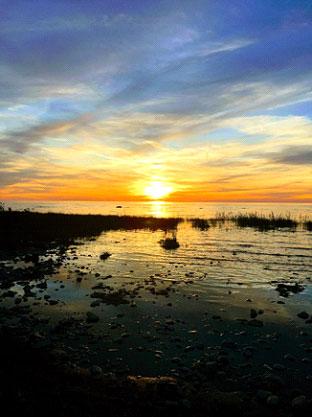 Sunset in Owen Sound, Ontario Canada